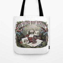 GOD BLESS OUR SCHOOL Pop Art Tote Bag