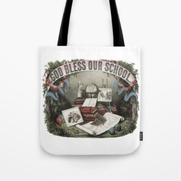 GOD BLESS OUR SCHOOL Pop Art Tote Bag