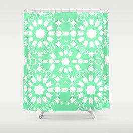 Peppermint Arabesque Shower Curtain