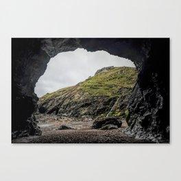 Merlins cove tintagel Canvas Print