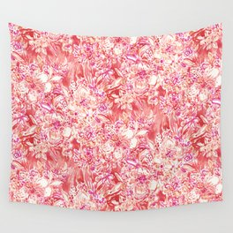 HAWAIIAN PUNCH Red Wild Hibiscus Floral Wall Tapestry