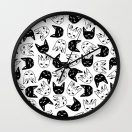 Demonic Cats Wall Clock
