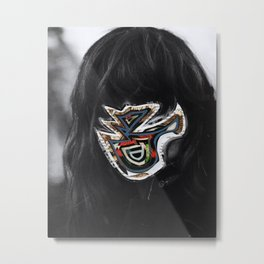 Inner Mask - Collage Metal Print