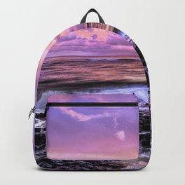Purple Sunrise, Poipu Beach, Kauai, Hawaii Backpack