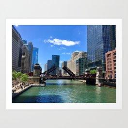 Raised bridge Art Print