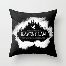 Ravenclaw B&W Throw Pillow