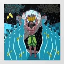 Crossing the Yamuna Canvas Print