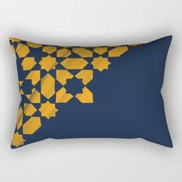 Zellige - blue and yellow Rectangular Pillow