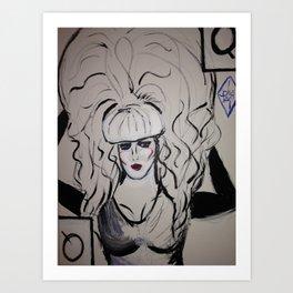 Queen Lady Bunny  Art Print