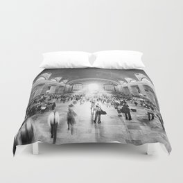 Grand Central Daylight (classic black & white edition) Duvet Cover