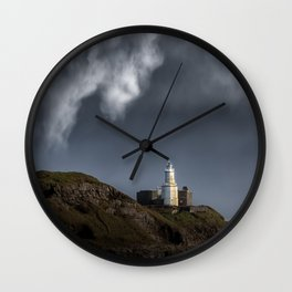 Mumbles lighthouse Wall Clock