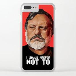 Slavoj Žižek Portrait Clear iPhone Case