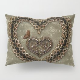 Wonderful celtic knot heart Pillow Sham