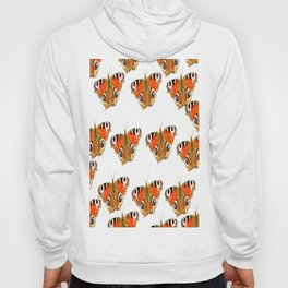 Beautiful Peacock Butterflies On A White Background #decor #society6 Hoody