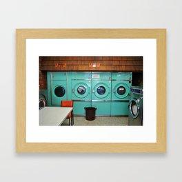 Coin Laundry Framed Art Print