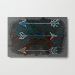 Arrow minded with texture Metal Print