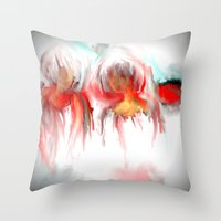 twins Throw Pillows featuring Twins by Jessielee