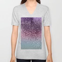 Unicorn Girls Glitter #6 #shiny #pastel #decor #art #society6 Unisex V-Neck
