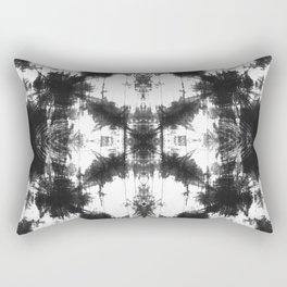 Mudcloth Tie Dye in Black Rectangular Pillow