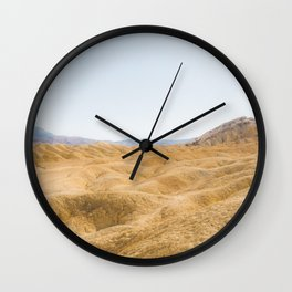 Death Valley Desert Hills of the Mojave Wall Clock