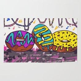 Mardi Gras Donuts Rug