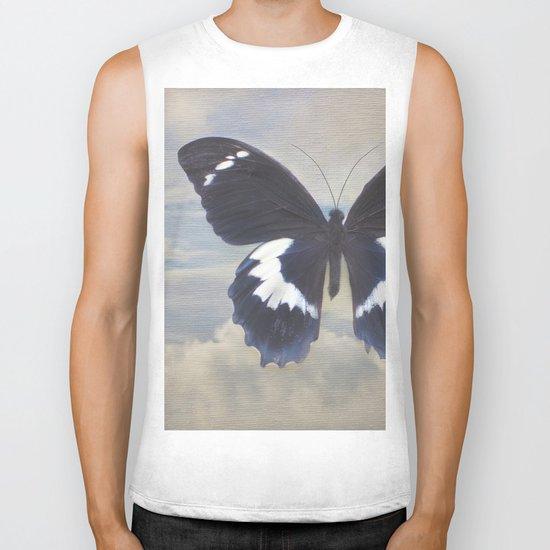 Butterfly Sky Biker Tank