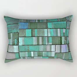 Life in Boxes (Blue and Purple) Rectangular Pillow