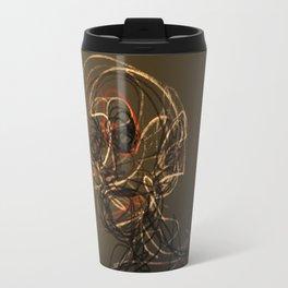 Old man wire pattern texture drawing illustration Travel Mug