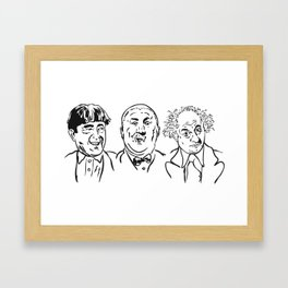 Stooges Moe, Curly and Larry Framed Art Print