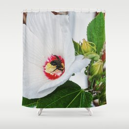 The Flower and the Bee Shower Curtain