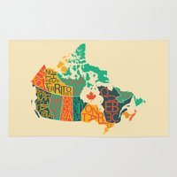 canada Area & Throw Rugs featuring Canada by Mohit Gupta