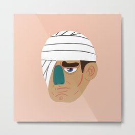 Bandage Face Metal Print