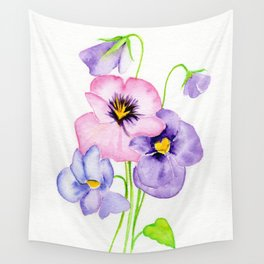 Pretty Pansies Wall Tapestry