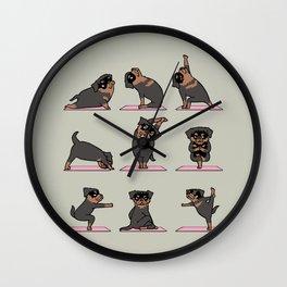 Rottweiler Yoga Wall Clock