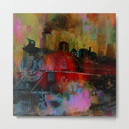 arrival of the train of 7h35 am Metal Print