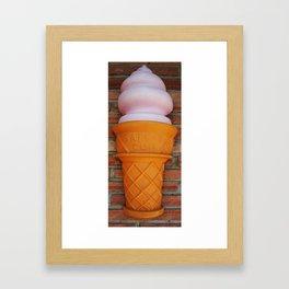 Ice Cream Delight Framed Art Print