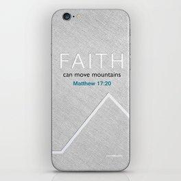 Faith Moves Mountains iPhone Skin