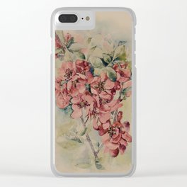 Flowering Japanese quince 2 Clear iPhone Case