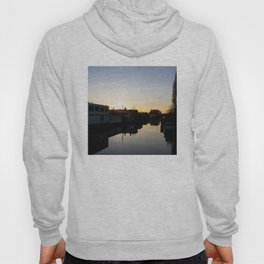 Sunset over an Amsterdam canal Hoody