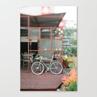 cycle Canvas Prints featuring cycle by //The Grovers