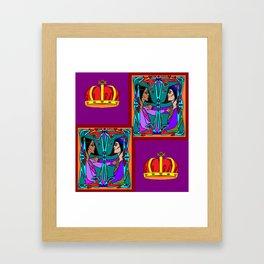 Love and Kingship, King Solomon's Beloved Framed Art Print