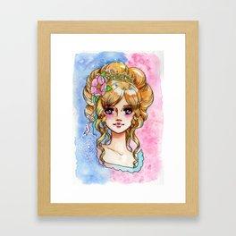 rococo princess in shojo-manga Framed Art Print