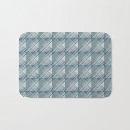 Modern Geometric Pattern 7 in Teal Bath Mat