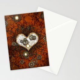 Steampunk, wonderful heart Stationery Cards