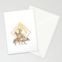 AZTEC Animals with Diamonds Stationery Cards