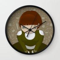 teacher Wall Clocks featuring Venom Teacher by Loop in the mind