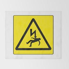 Danger Electricity Throw Blanket