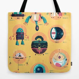 :::Mini Robots::: Tote Bag