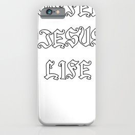 Coffee And Jesus Funny Religious Inspirational Graphic Gift iPhone Case