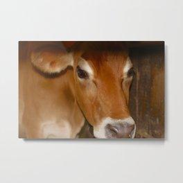 MOOdy Cow Metal Print